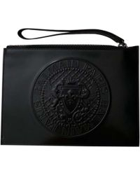 Balmain Porte document, serviette cuir noir
