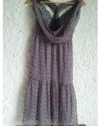 Vanessa Bruno - Robe mi-longue viscose violet - Lyst