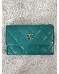 Chanel Porte-cartes cuir Timeless - Classique bleu