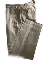 Loro Piana Pantalon droit coton autre - Multicolore