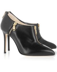 Brian Atwood Bottines & low boots à talons cuir noir