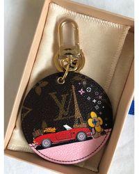 Louis Vuitton Porte-clés cuir multicolore