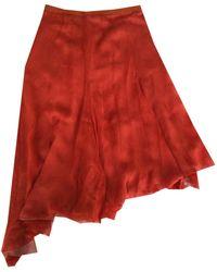 Givenchy Jupe mi-longue mousseline rouge