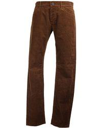 The Kooples Pantalon droit velours côtelé marron