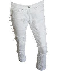 Isabel Marant Pantalon slim, cigarette stretch blanc