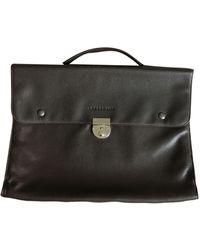 Longchamp - Porte document, serviette cuir marron - Lyst