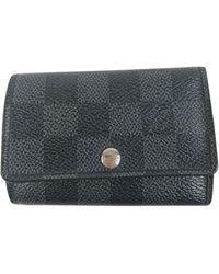Louis Vuitton Porte-clés cuir noir