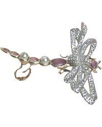 Chanel Boucles d'oreille métal argent - Métallisé