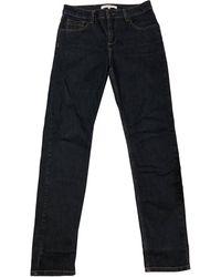 Gerard Darel Pantalon droit coton bleu