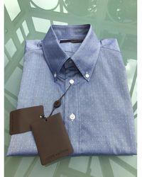 Louis Vuitton Chemise coton bleu