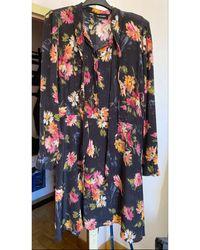 The Kooples Robe courte soie multicolore
