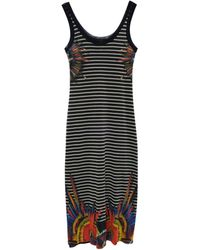 Jean Paul Gaultier Robe mi-longue polyamide multicolore
