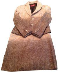 fb47efde1fa798 Tailleur jupe laine marron