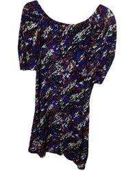 Maje - Robe courte soie multicolore - Lyst