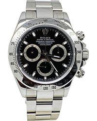 Rolex - Montre au poignet acier Daytona noir - Lyst