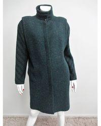 Versace Manteau laine vert