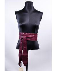 Sandro Ceinture large cuir rouge Taille M