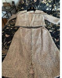 Chanel Tailleur jupe coton laine nylon soie autre - Multicolore