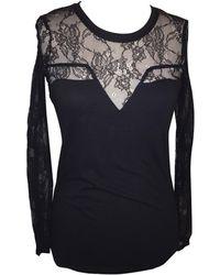 Maje Top, tee-shirt coton noir