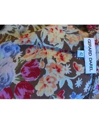 Gerard Darel - Jupe mi-longue viscose multicolore - Lyst