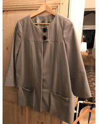 IRO Manteau laine gris