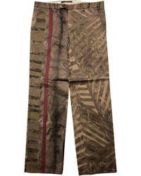 Roberto Cavalli Pantalon droit coton multicolore