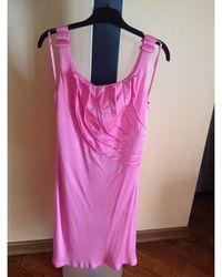 Roberto Cavalli Robe mi-longue elastique rose