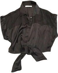 Balmain Chemisier soie noir