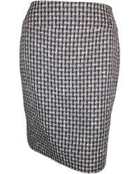 Chanel Jupe mi-longue laine noir