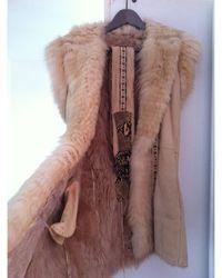 Roberto Cavalli Manteau en fourrure fourrure beige - Neutre