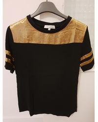 Sandro Top, tee-shirt viscose multicolore - Noir