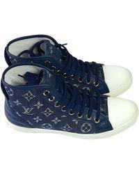 Louis Vuitton Baskets toile bleu