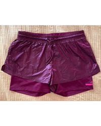 Stella McCartney Pantalon de fitness polyester rouge