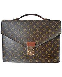 Louis Vuitton Porte document, serviette toile & cuir autre - Multicolore