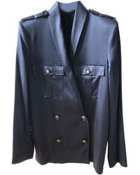 The Kooples - Veste viscose bleu - Lyst