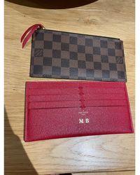 Louis Vuitton Porte-monnaie toile marron