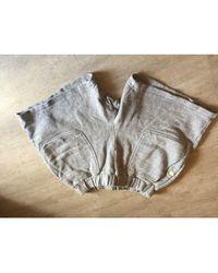 Sandro Short coton gris