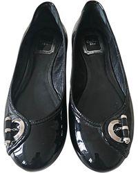 Dior Ballerines cuir verni noir