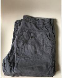 Zadig & Voltaire - Pantalon droit lin gris - Lyst