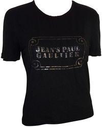 Jean Paul Gaultier - Top, tee-shirt viscose noir - Lyst