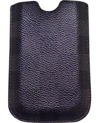Louis Vuitton Etui iPhone toile gris