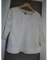 Claudie Pierlot - Blouse coton blanc - Lyst