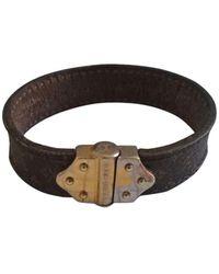 Louis Vuitton - Bracelet cuir marron - Lyst