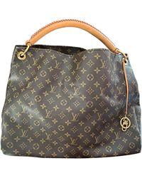 Louis Vuitton Sac XL en cuir cuir Artsy beige - Neutre