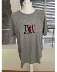JW Anderson - Top, tee-shirt coton gris - Lyst