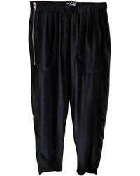 The Kooples - Pantalon droit polyester noir - Lyst