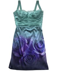 Roberto Cavalli Robe mi-longue soie violet
