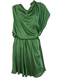 Lanvin Robe courte soie vert