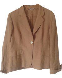 Max Mara - Blazer, veste tailleur lin beige - Lyst