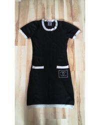 Chanel Robe courte laine noir
